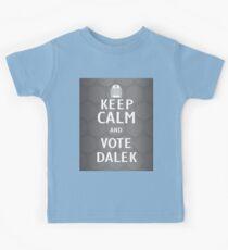 Keep calm and vote Dalek Kids Tee