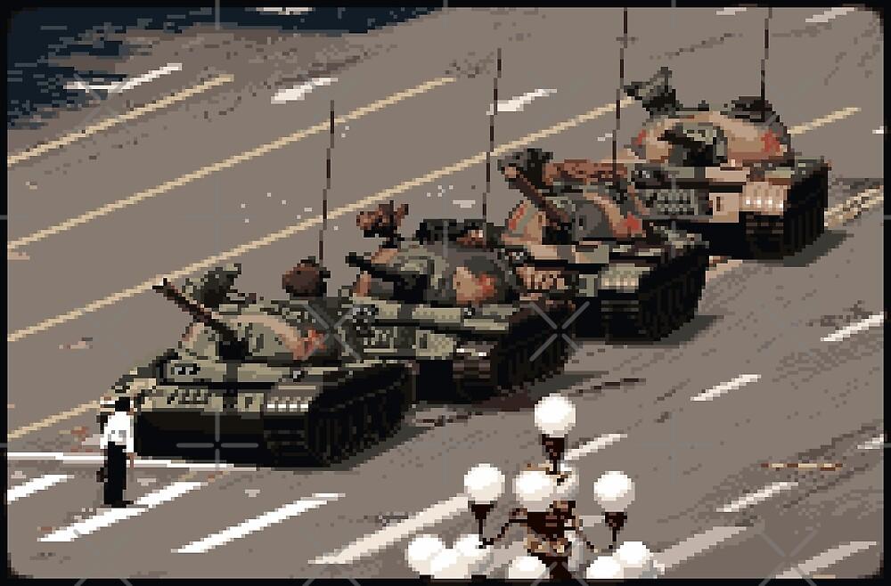 Tank Man Geschichte In Pixeln Von Phil Strahl Redbubble