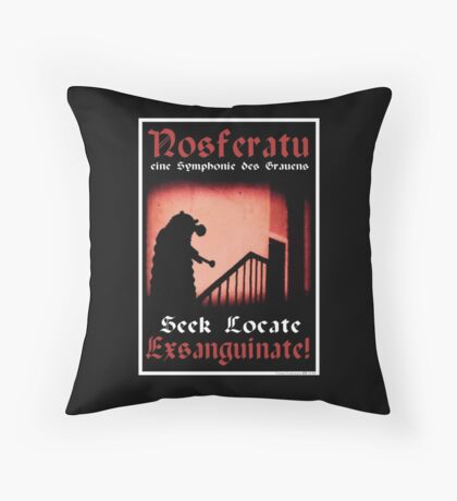Remembrance of the Vampires Throw Pillow
