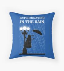 MusiKill in the Rain Throw Pillow