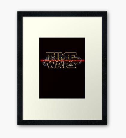 Time Wars  Framed Print