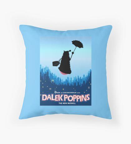 Dalek Poppins  Throw Pillow