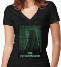 THE EXTERMINATRIX Women's Fitted V-Neck T-Shirt