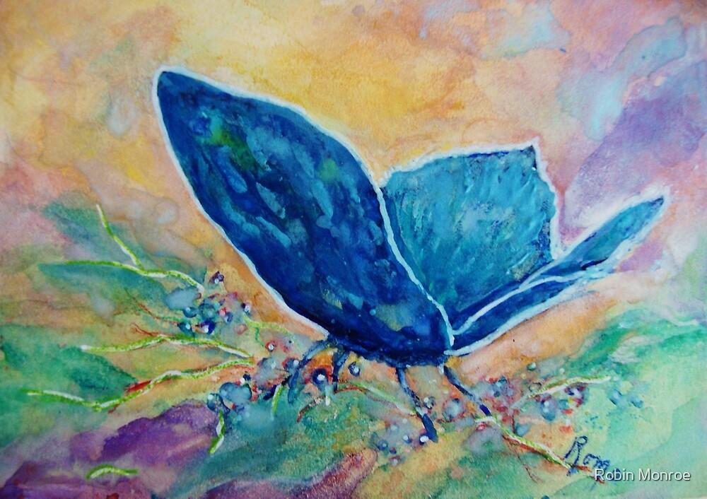 Whispering Blue - Butterfly by Robin Monroe