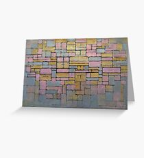 Piet Mondrian Greeting Card