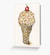 Ice Cream No.2 - Watercolor Artist Print Greeting Card