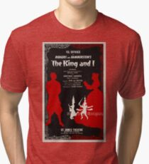 Reproduction Broadway musical poster The King and I Tri-blend T-Shirt