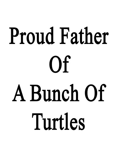 Proud Father Of A Bunch Of Turtles  by supernova23