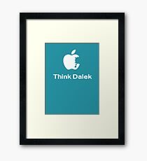 Think Dalek  Framed Print
