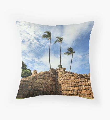 Lahaina Ruins Throw Pillow