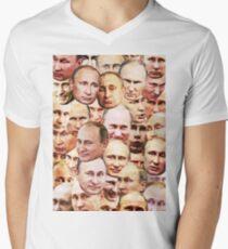 Wladimir Putin T-Shirt mit V-Ausschnitt für Männer