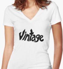 Vintage Women's Fitted V-Neck T-Shirt