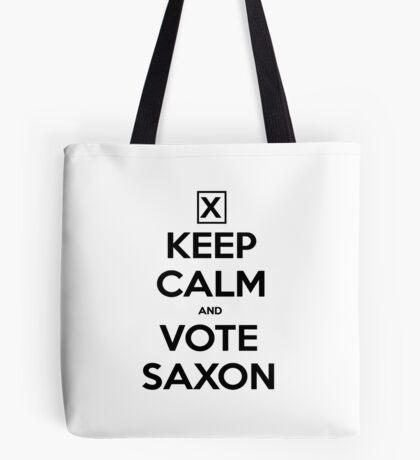 Vote Saxon - White Tote Bag