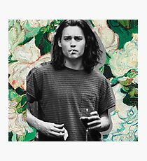 Young Johnny Depp Art Photographic Print