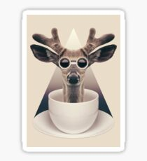 Caffeinimals: Deer Sticker