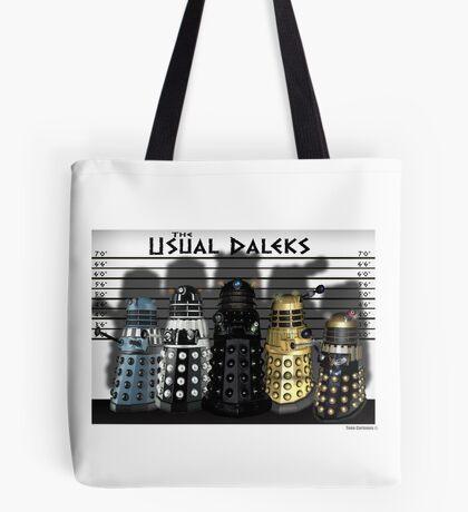 The Usual Daleks Tote Bag