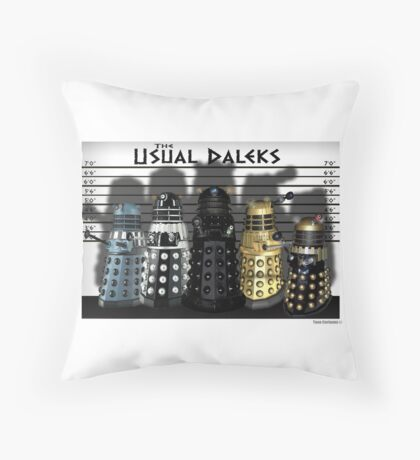 The Usual Daleks Throw Pillow
