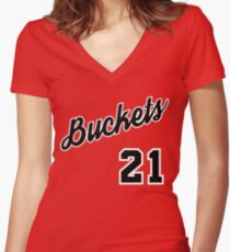 Jimmy G. Buckets Throwback Fitted V-Neck T-Shirt