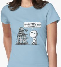 Marvin meets Who? Women's Fitted T-Shirt