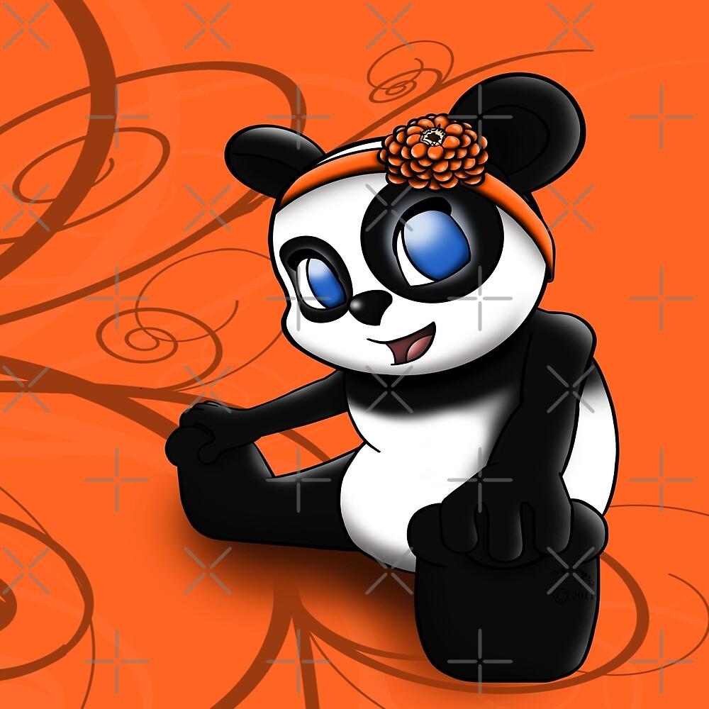 Happy Panda Floral by treasured-gift