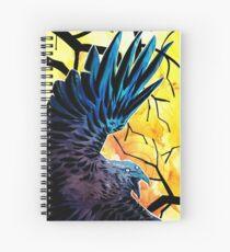 Raven god Spiral Notebook
