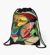 Falling Leaves ~ Rippling Water Drawstring Bag