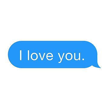 I Love You Text by hogies