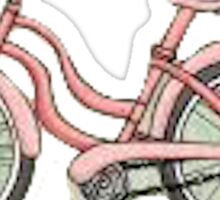 Pink beach bike Sticker