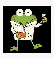 Science Frog Laboratory Experiment Photographic Print