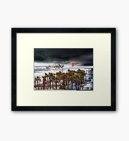 Racing The Storm Framed Print