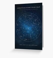 Constellation Star Map Greeting Card