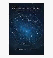 Constellation Star Map Photographic Print