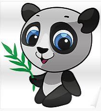 Vector illustration of a wild panda Poster