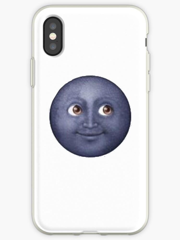 the latest 66e17 05254 'Black moon emoji' iPhone Case by chandnisembhi