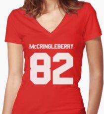 Hingle McCringleberry Jersey – East, Rhinos, Penn State Women's Fitted V-Neck T-Shirt