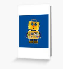Surprised toy robot Greeting Card