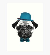 Pug Puppy French Bulldog Art Print