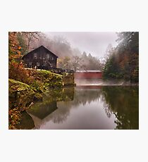 Morning At the Mill - McConnells Mill, PA Photographic Print