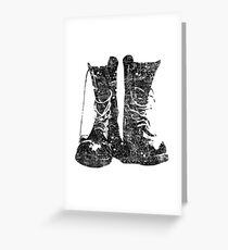 Leather Boot T shirt Greeting Card