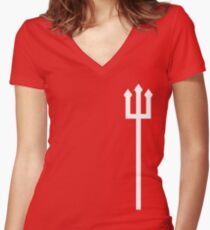 The Red Devils Women's Fitted V-Neck T-Shirt