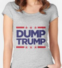 Dump Trump - 2016 Election Women's Fitted Scoop T-Shirt