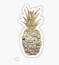 Modern Chic Marble Gold Pineapple Fruit Sticker
