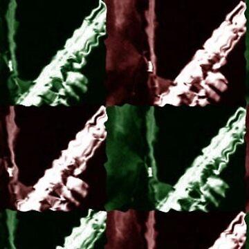 Abstract saxophone sticker by harryfowler