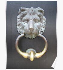 LION KNOCKER Poster