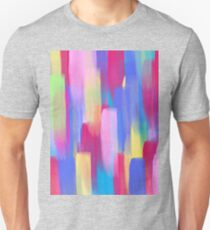 Vertical Watercolor Abstract Vivid Colorful Pop T-Shirt