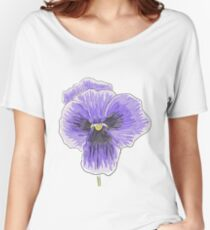 Dramatic Purple Pansy Design/Floral Art Women's Relaxed Fit T-Shirt
