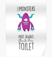 Bathroom rules for kids! Poster