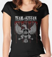 Team Stefan Blood Crest Women's Fitted Scoop T-Shirt