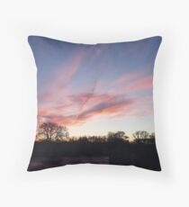 Welsh sunrise landscape Throw Pillow