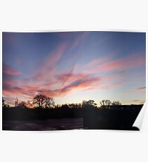 Welsh sunrise landscape Poster